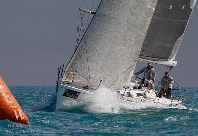 "J 44 Jim Bishop sailing ""WHITE GOLD"" in Key West Race Week (Photo by-Tim ..."